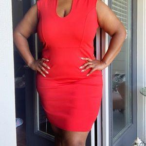 Ashley Stewart 18/20 Red Midi dress